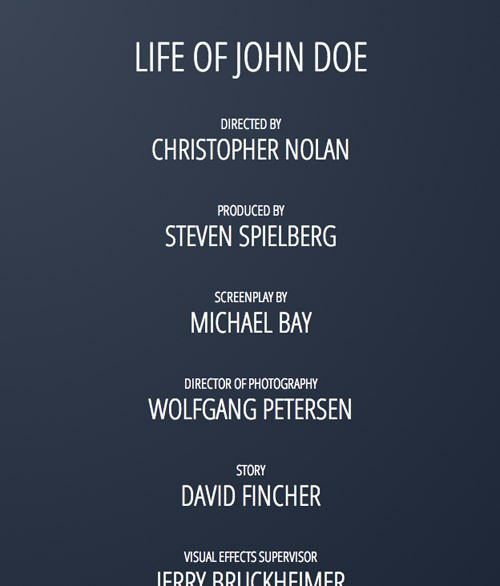 CSS3だけで映画のエンドロール風エフェクトを表現した「Movie Credits」