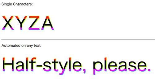 文字をカラフルに!CSSとjQueryでテキストを2〜3色で表現してしまう「HalfStyle」