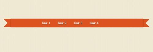 切れ込みの入った リボン型ナビゲーションを CSS3だけで実装する方法