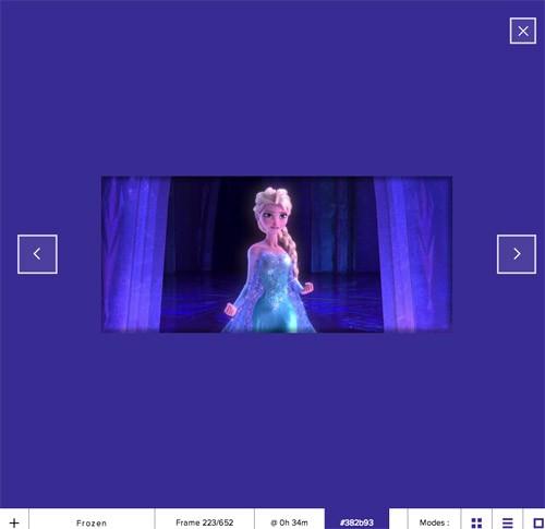 「アナと雪の女王」の配色だってわかる!人気映画のカラー/配色を参考にできる「The Colors of Motion」