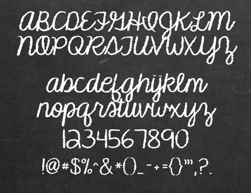 チョークで書いたような無料のフリー欧文/英語フォント