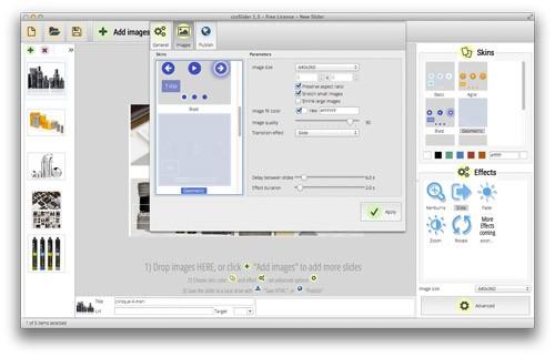 コード/js不要!ドラッグ&ドロップだけでCSSイメージスライダーがつくれるアプリ「cssSlider」
