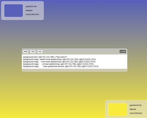 美しいCSSグラデーションをランダムにつくってくれる「Random CSS Gradient Generator」