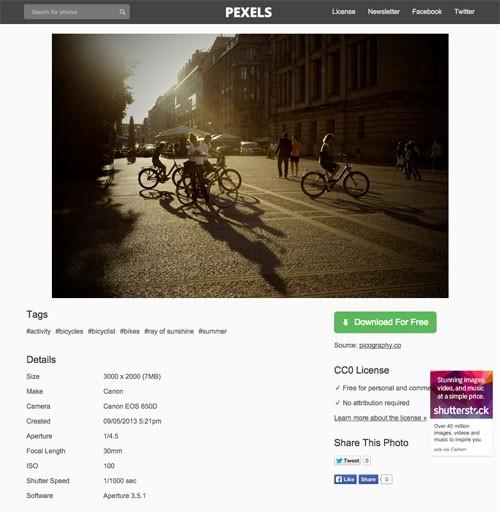 商用利用可能なハイクオリティ写真のまとめサイト「Pexels」