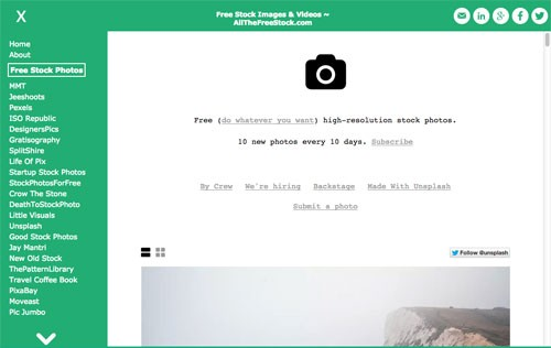 無料のフリー写真・動画・アイコン素材を効率よく探せる「AllTheFreeStock.com」
