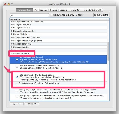 Macのアプリ終了用ショートカット(command+Q)の押し間違いを防止する「Karabiner」が役立ちすぎる