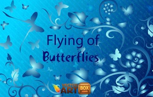 蝶(バタフライ)をモチーフにした無料のベクター素材
