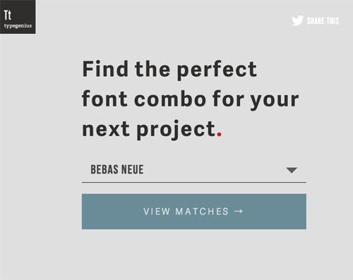 欧文/英語フォントのベストマッチ組み合わせを実例付きで教えてくれる「Type Genius」