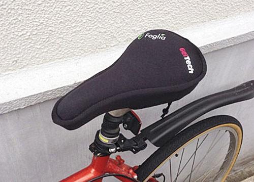 自転車サドルのお尻痛を緩和!ゲル状サドルカバーFOGLIA(フォグリア) ゲルテックサドルカバーが快適