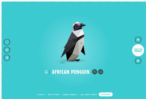 信じられないほど美しい!CSSだけで絶滅危惧種30を表現した「In Pieces」