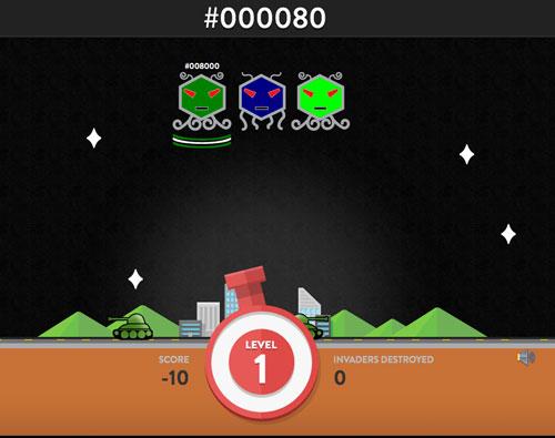 カラーを遊べ!16進数のカラーコードのイベンダーゲームでHEX博士だ