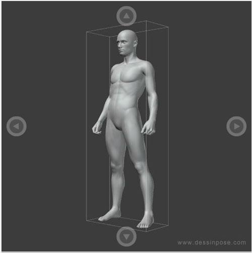絵・デッサンの上達に最適!様々な人体のポーズを表示する「ポーズビューワ」