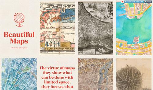 見とれちゃう!世界中の多様なマップ/地図がコレクションされた「Beautiful Maps」