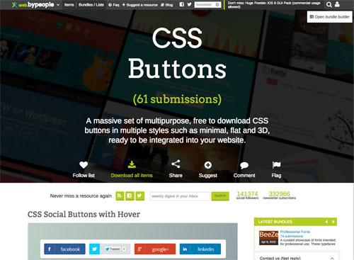 クリックしたくなる!CSSだけで作られた無料のボンタコレクション「CSS Buttons」