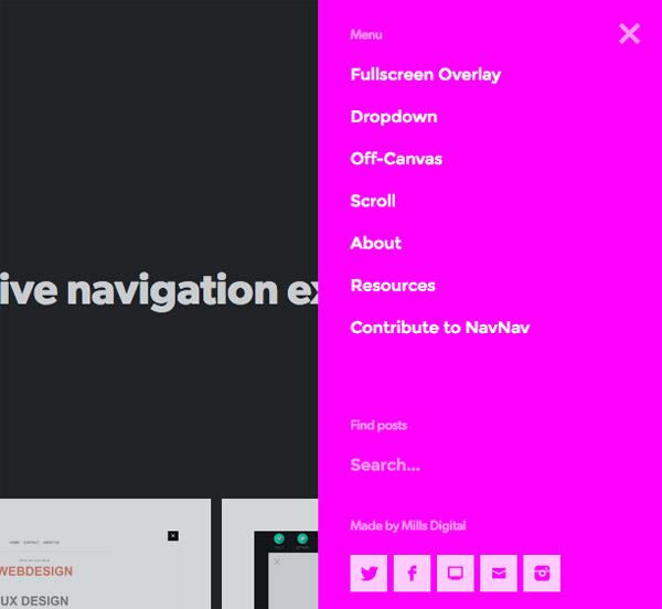 ナビゲーションだけが90以上!ナビゲーションメニューのプラグインやチュートリアルのコレクションサイト「NavNav」