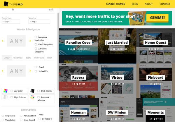 WordPressのテーマ検索に最適!テーマをより探しやすくした検索サービス「ThemeBro」