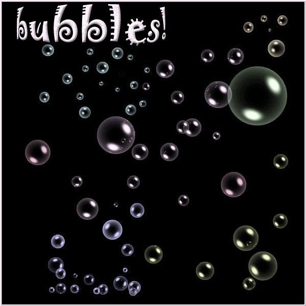 Photoshop用の泡・バブル・水滴系フリー/無料ブラシセット