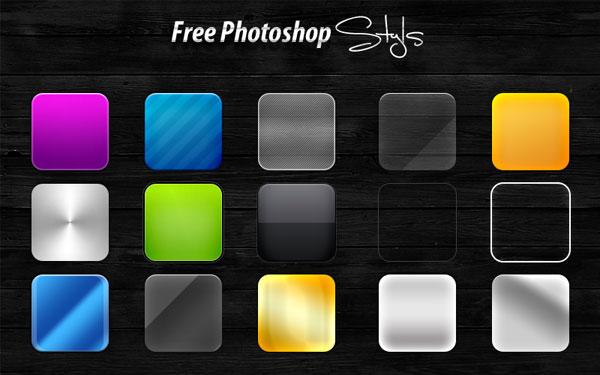 Photoshop用無料のレイヤースタイルで作業時間を大幅短縮
