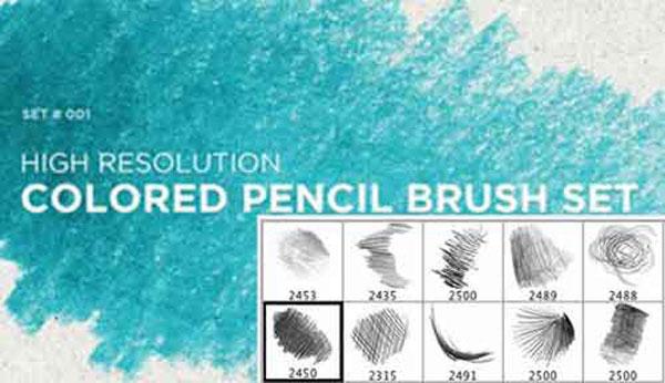 無料で使えるPhotoshop用鉛筆/ペンシルブラシ