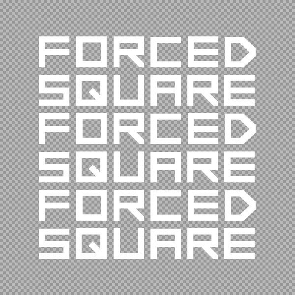 無料の四角く角張ったフォント=フリースクエアフォント33