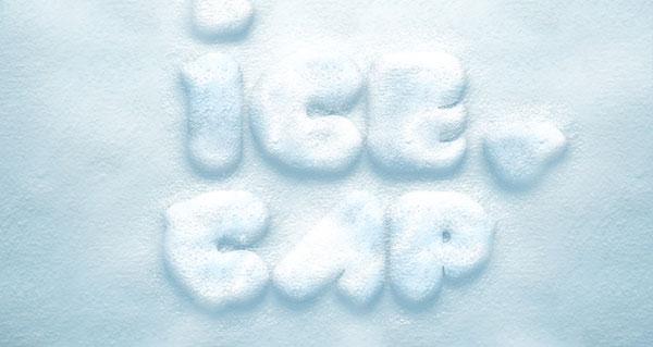 Psd Snow Text Effect