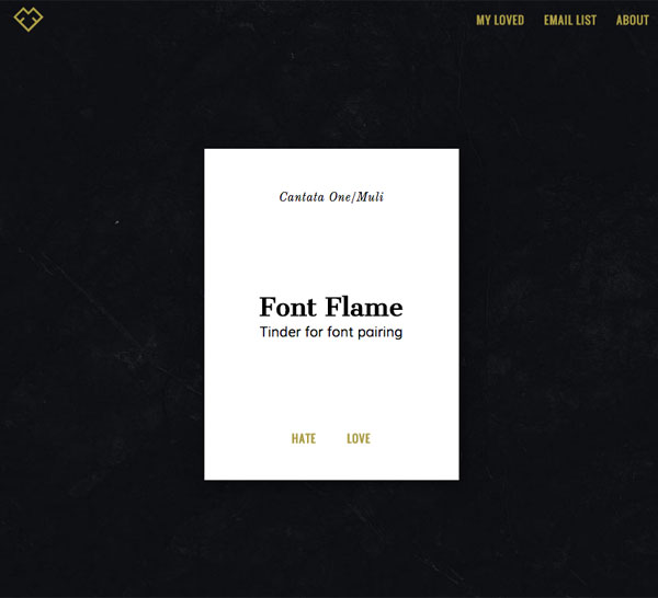 Googleフォントを使った組み合わせを次々提案してくれる「Font Flame」