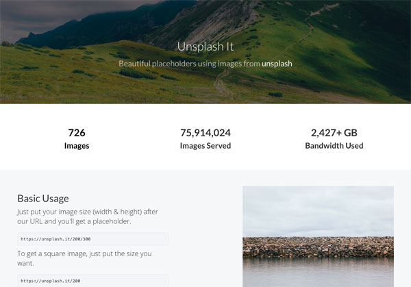 商用無料で高画質画像を配布するUnsplashがプレースホルダー画像サービスを開始