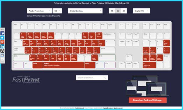 おお便利!Adobeソフトのショートカットがブラウザで確認できる「Keyboard Shortcut Visualiser」