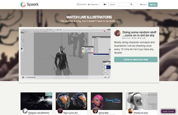 見て盗め!プロのイラスト制作過程を動画で逐一観察できる「Sywork」