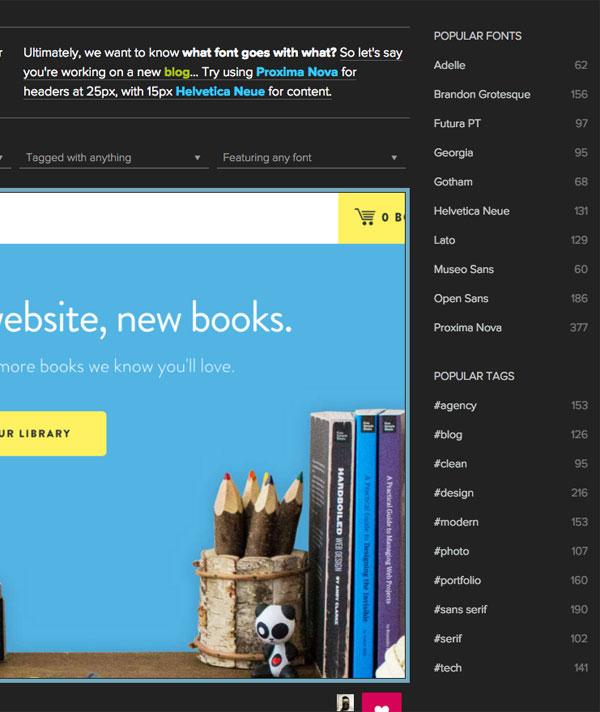 英語/欧文フォントの使用例をサイトで紹介!英語/欧文フォントの実例集「Fonts that go together」