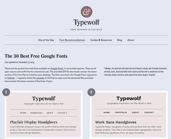 人気フォントブログ「Typewolf」が選ぶGoogleフォントベスト30(2015年版)