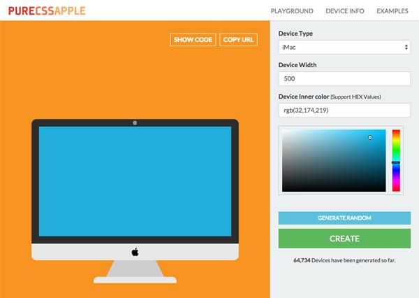iPhoneもMacも簡単OK!CSSだけであなただけのAppleデバイスを描ける無料ジェネレーター「Pure CSS Apple Device Generator」