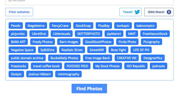 商用無料の高画質画像配布サイト40+を横断検索できる便利サービス「LibreStock」