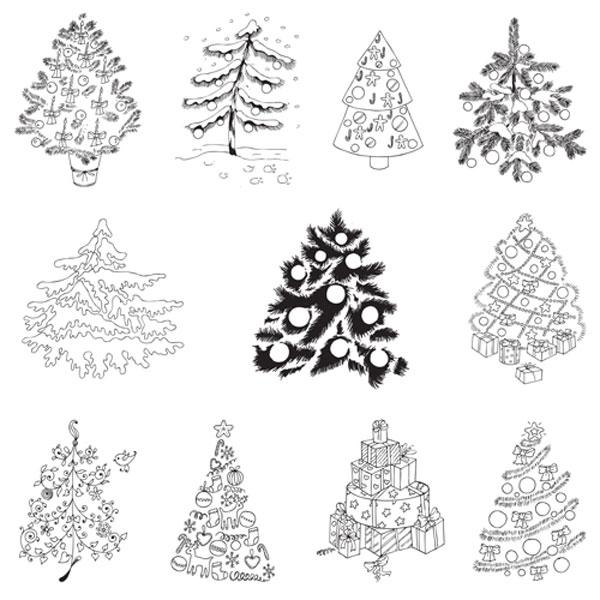 クリスマスのデザインに使える無料のベクターフリー素材コレクション