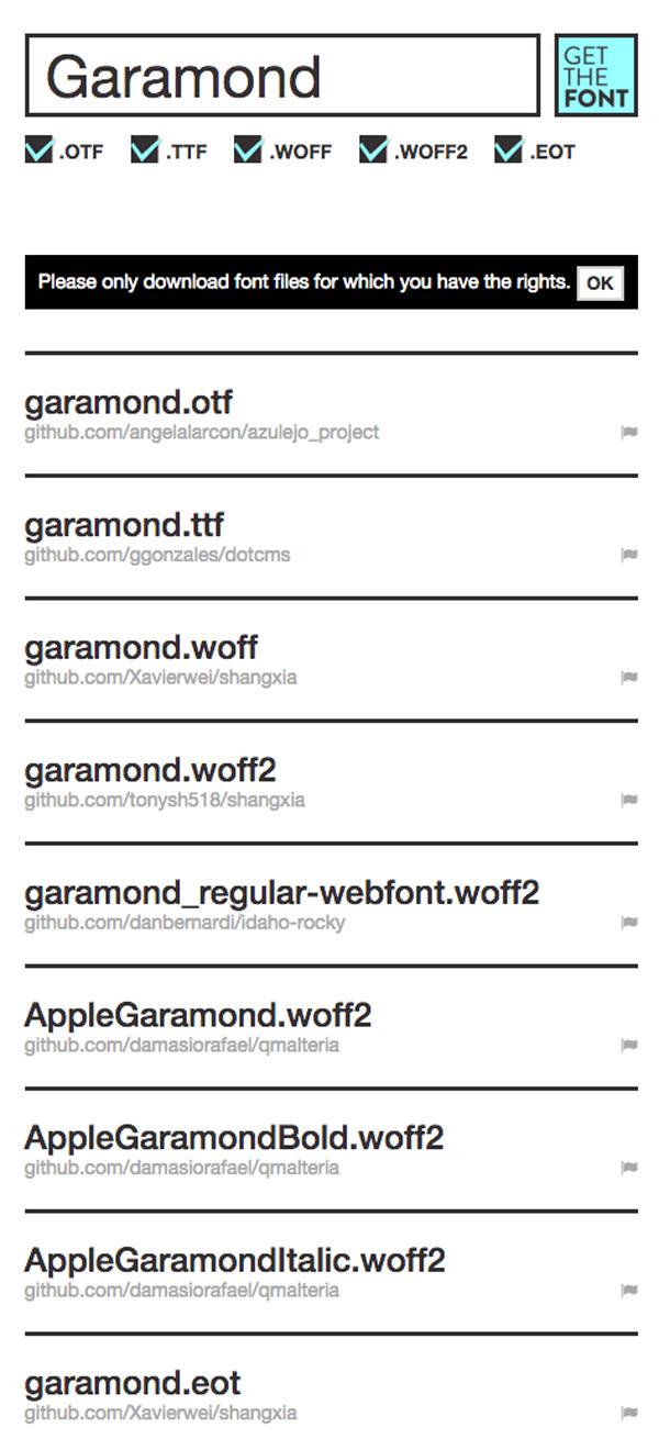 シンプルだけどヤバイほど強力!GitHub上のフォントを検索・ダウンロードできてしまう「Get the Font」