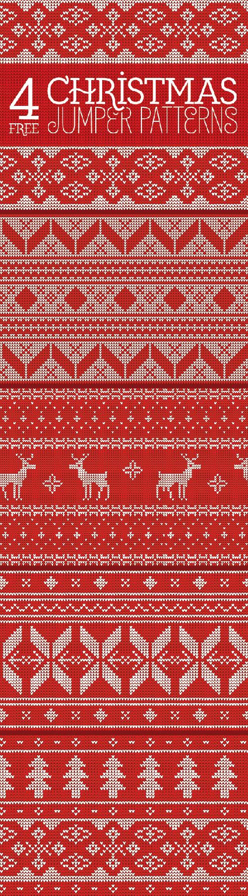 クリスマスのデザイン素材に!無料で使えるPhotoshop用シームレスパターン180+