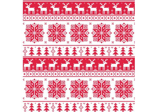 クリスマス用デザイン素材に!無料のIllustrator用シームレスパターン