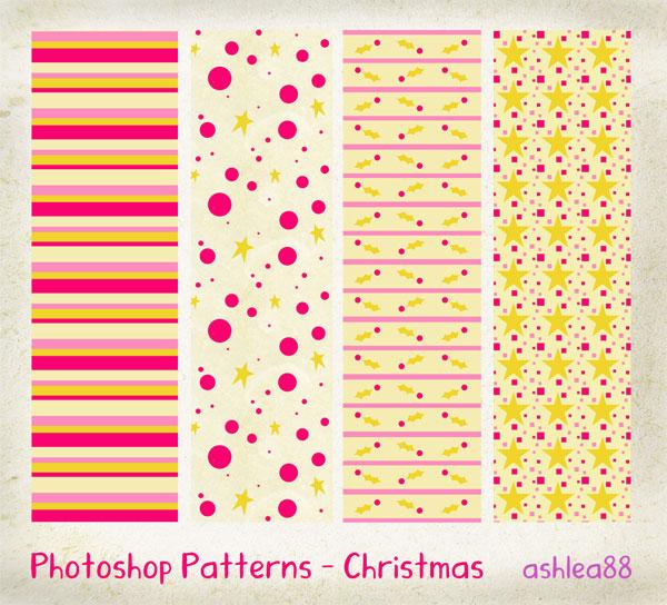 クリスマスのデザイン素材に!無料で使えるPhotoshop用シームレスパターン