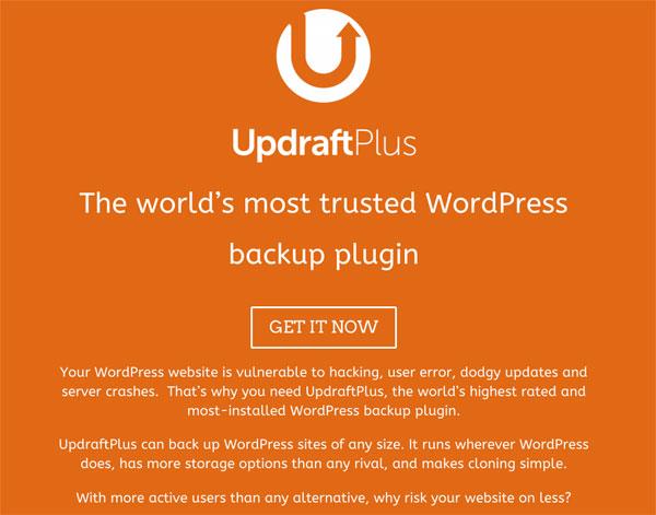 無料なのに高機能なWordPress用バックアッププラグイン「UpdraftPlus」