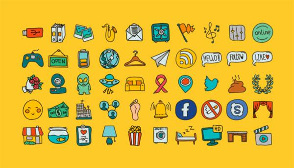 Doodle Icons Free Set