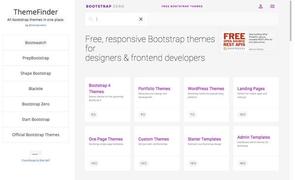 Bootstrapの無料テーマを探すなら一箇所で全部探せる「ThemeFinder」