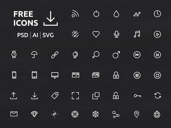 無料で使えるフリーのSVGアイコン60セット