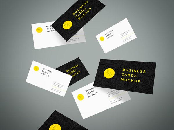 クライアントを魅了する名刺・ビジネスカードの無料PSDモックアップ130+