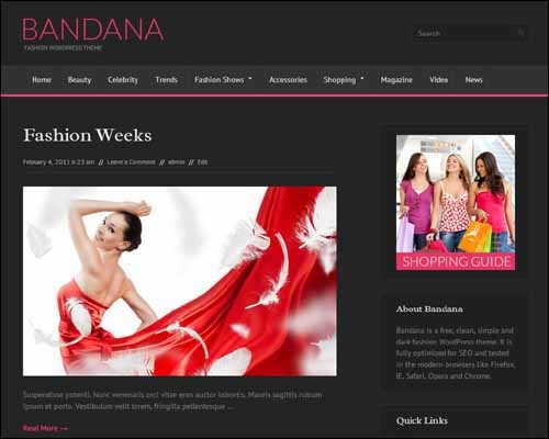 Bandana-Free-Fashion-WordPress-Theme