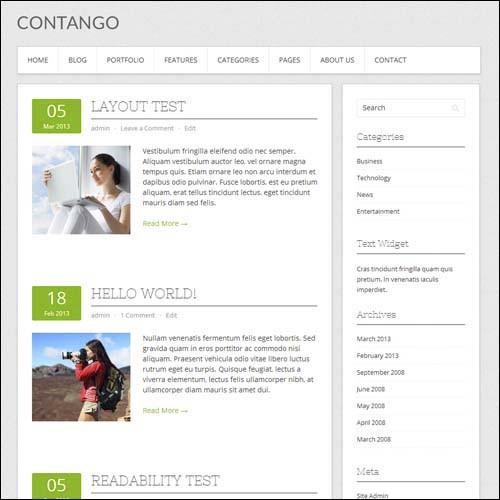 Contango-Free-WordPress-Theme