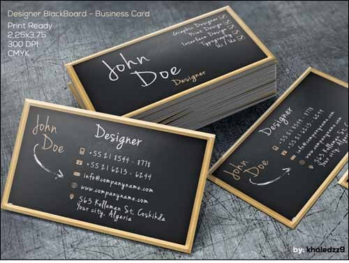 Designer-BlackBoard-Business-Card