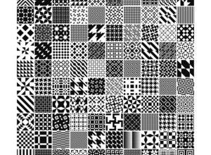 Monochrome_Geometric_Patterns_by_MartinIsaac