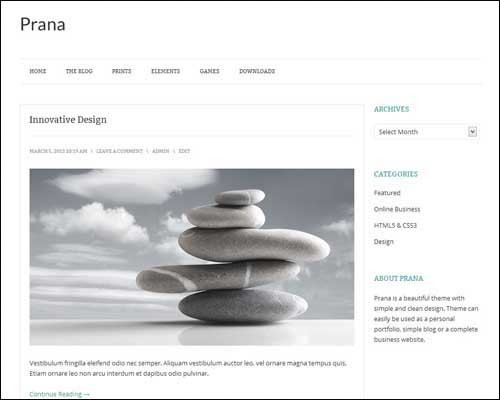 Prana-Free-WordPress-Theme