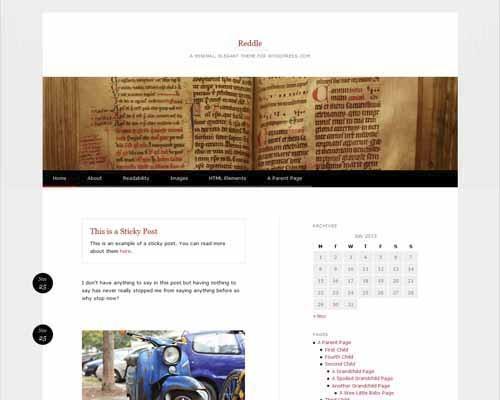 Reddle_WordPress_Theme