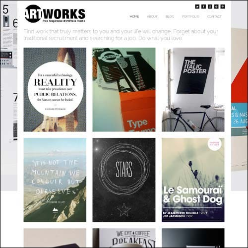 art-works-responsive-theme-free-2013